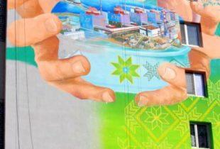 В Энергодаре показали новый красочный мурал – ФОТО