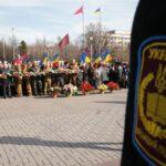 V Zaporozh'ye pochtili pamyat' pogibshikh voinov-internatsionalistov (FOTOREPORTAZH)