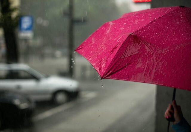 дождь гроза вода зонтик ветер осень
