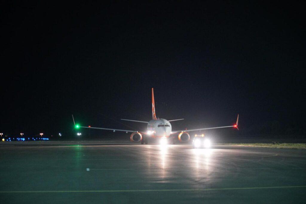 Запорожский аэропорт принял первый международный рейс