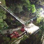 Возгорание в 9-этажном доме