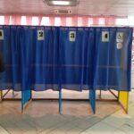 На избирательном участке в Бердянске неправильно установили кабинку