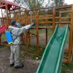 В Запорожье парки отдыха проходят противоэпидемическую обработку