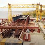 В Запорожье показали как происходит строительство вантового моста через Днепр