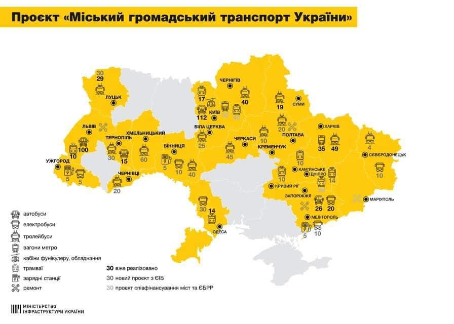 В двух городах Запорожской области будет обновлен общественный транспорт