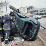 В Запорожье произошло мощное ДТП: водитель погиб