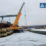 В Запорожье продолжают строительство балочного моста
