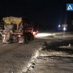 В Запорожской области от снега расчистили главные трассы