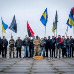 Националисты провели автопробег в Запорожье в честь Бандеры
