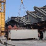 Строительство вантового моста в Запорожье, - видео