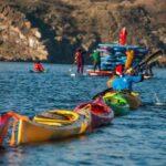 Байдарочники устроили новогодний заплыв по Днепру в Запорожье
