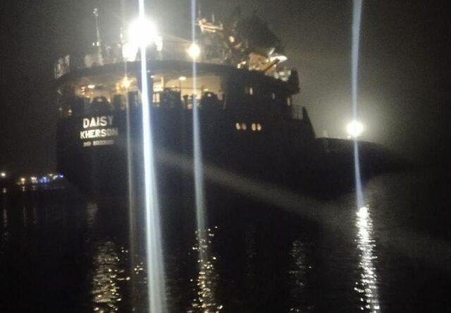 В ГСЧС рассказали подробности ЧП на грузовом судне возле Хортицы