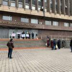 В Запорожье прошел митинг против повышения тарифов