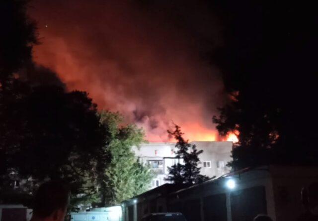 Пожар в Запорожье воздух загрязнённые вещества