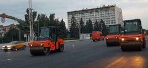 Запорожье ремонт дороги на прноспекте